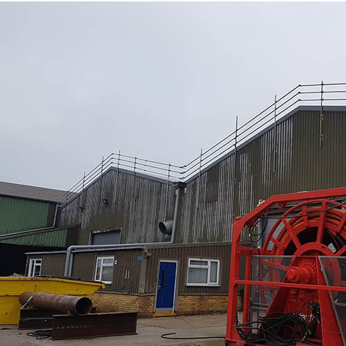 Belmont Roofing Claxton Engineering Wall Cladding Refurbishment Before