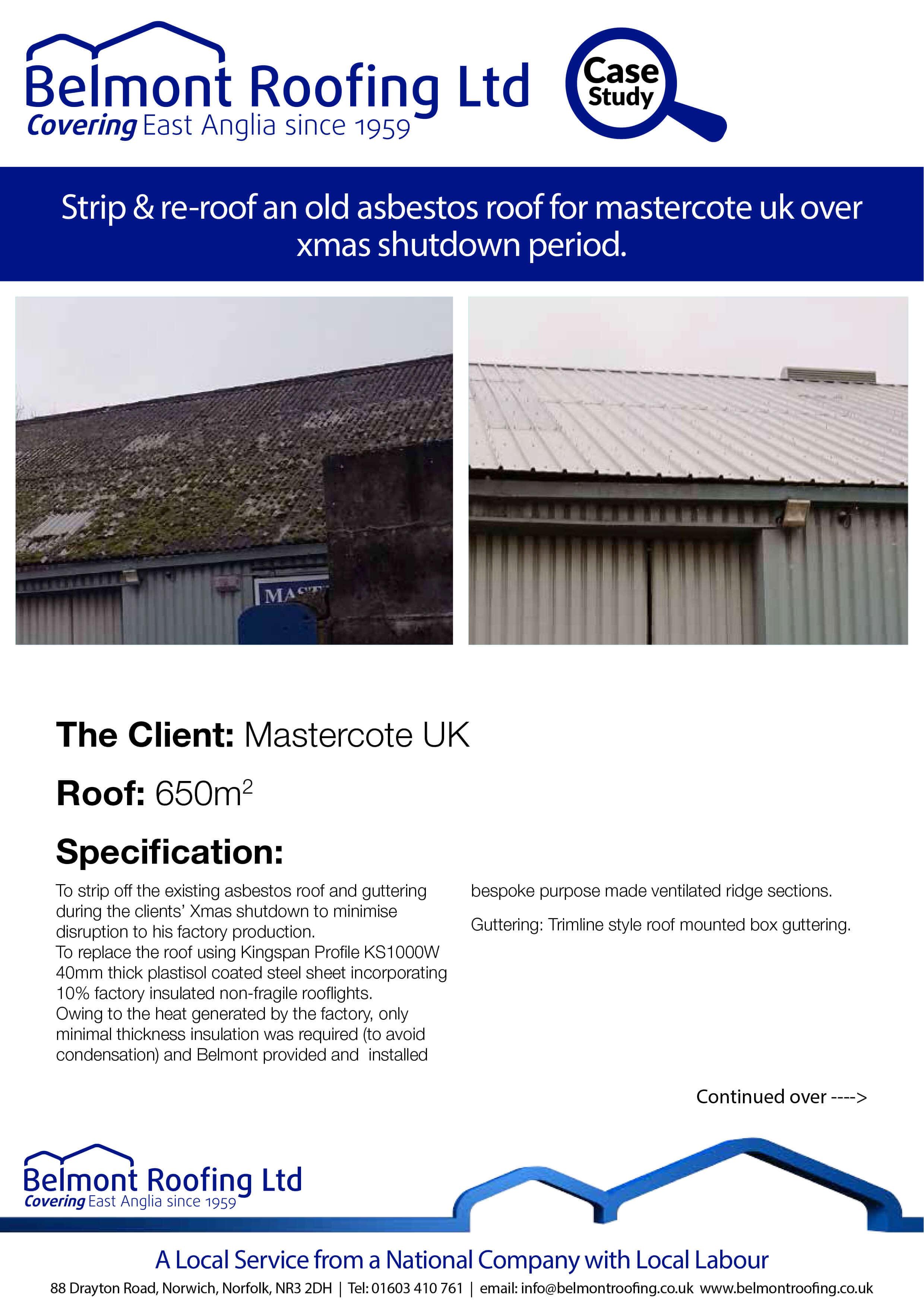 Belmont Roofing Mastercote UK 1
