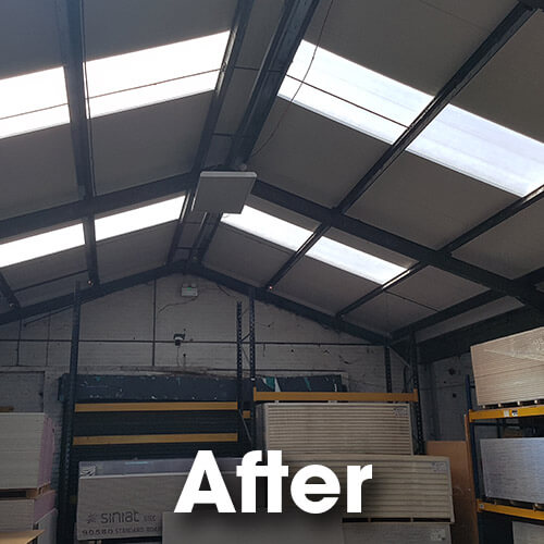 internal appearance transformed into a light and attractive environment to work