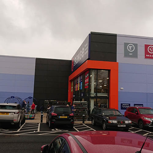 Belmont Roofing Western Way Retail Park Wall Cladding