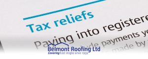 Belmont Roofing Blog Tax Relief