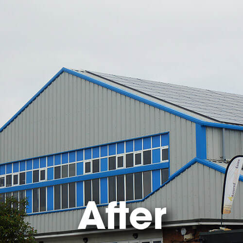 Roof replaced with Kingspan composite