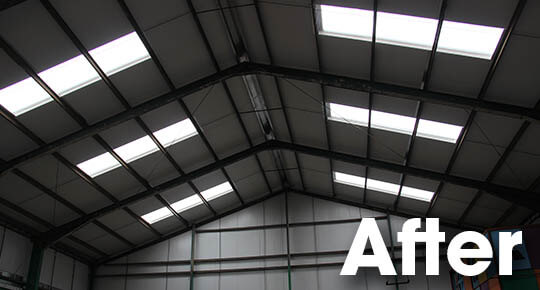 internal appearance greatly enhanced by new natural insulated rooflights.