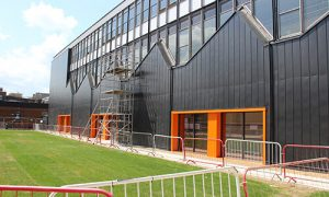 Belmont Roofing Wall Cladding Refurbishment at City College Norwich