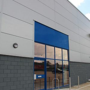 Belmont Roofing Wall Cladding Refurbishment Blue Window