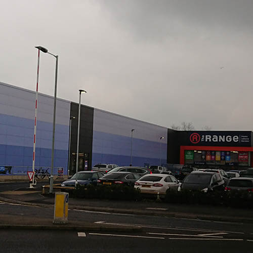 Belmont Roofing Western Way Retail Park Wall Cladding Refurbishment Norwich