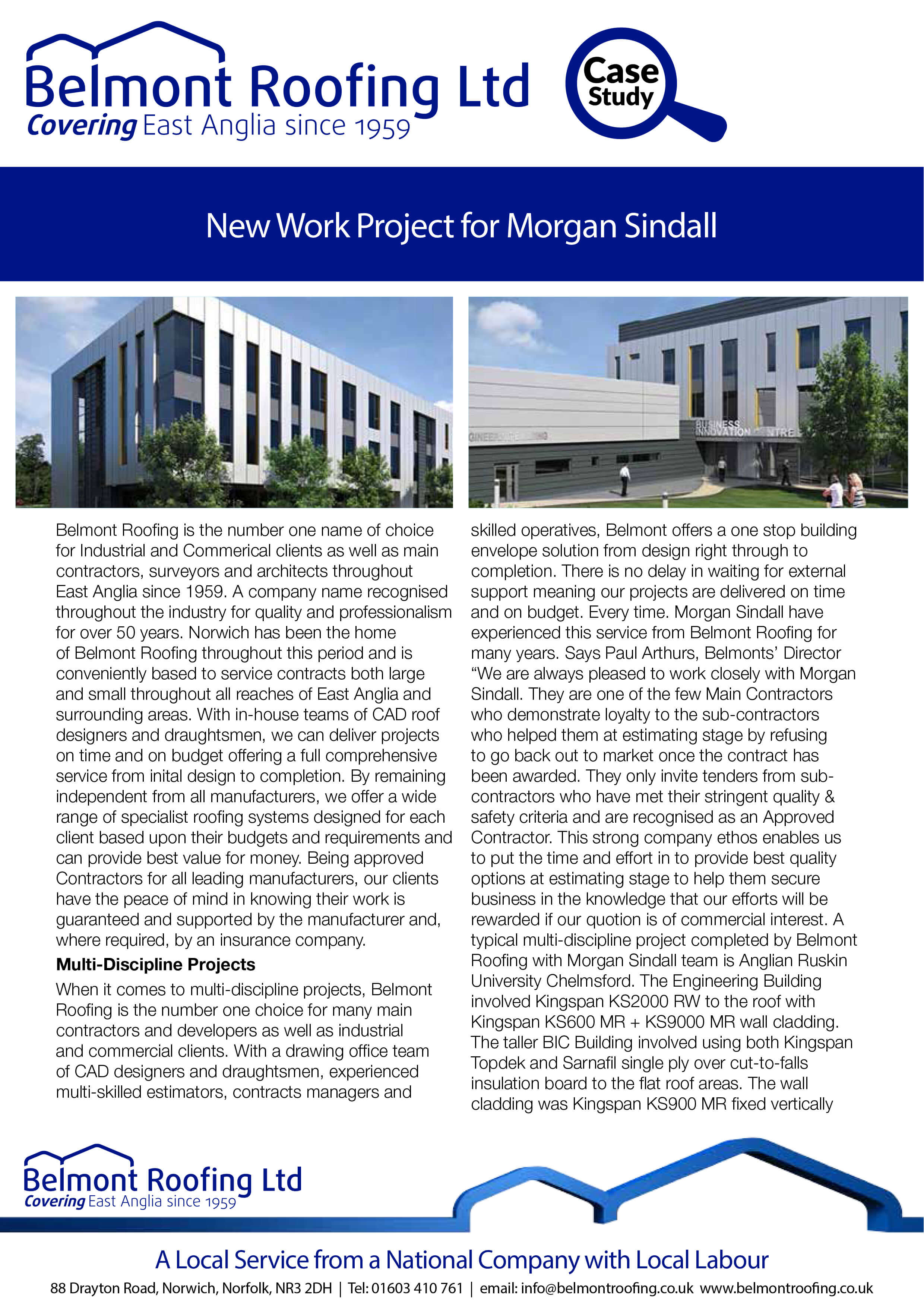 New Work For Morgan Sindall