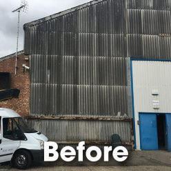 Belmont Roofing Clearview Communications Asbestos Removal Wall Cladding Refurbishment Before