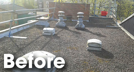 Belmont Roofing Flat Roofing Glasswells Before