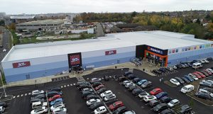 Belmont Roofing RIverside Western Way Retail Park New Work Roof Cladding