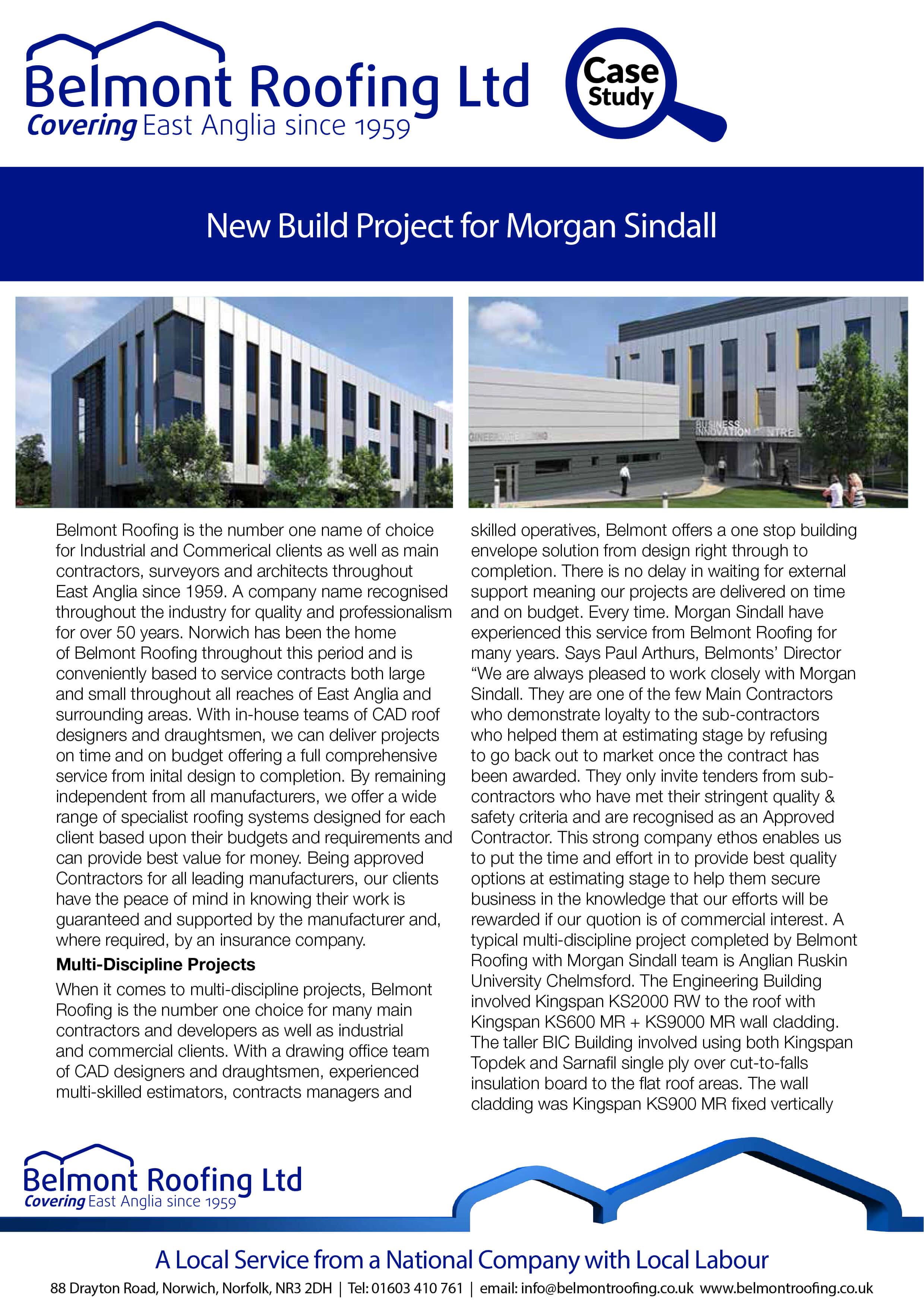 New Build for Morgan Sindall